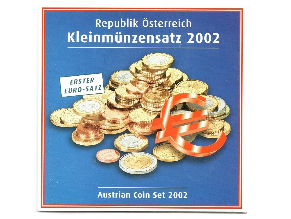 (EUR01.BU.set.2002) Brilliant Uncirculated coin set Austria 2002 Front (zoom)