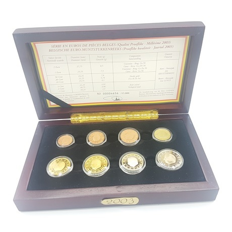 (EUR02.CofBE.2003.Cof-BE.00004656) Coffret BE Belgique 2003