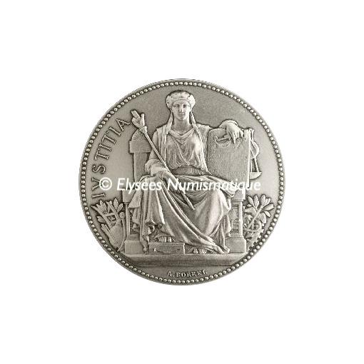 Médaille bronze argenté - La Justice - avers