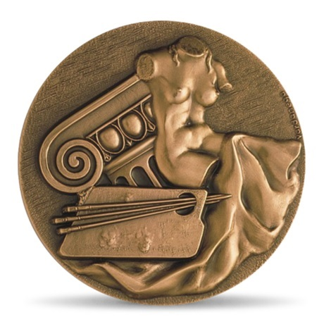 (fMED.Méd.MdP.CuSn.100111387500P0) Médaille bronze - Les arts, par Gregorio Vardanega Avers