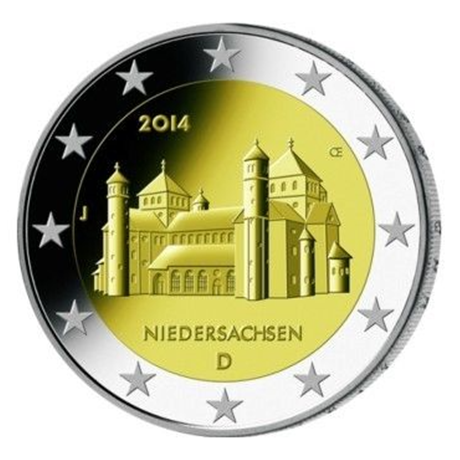 2 euro commmorative coin Germany 2014 J - Niedersachsen