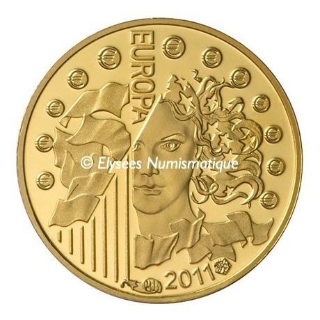 (EUR07.ComBU&BE.2011.10041268830000) 5 euro France 2011 Au BE - Europa Avers