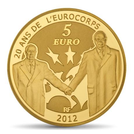 (EUR07.ComBU&BE.2012.10041275050000) 5 euro France 2012 Au BE - Europa Revers