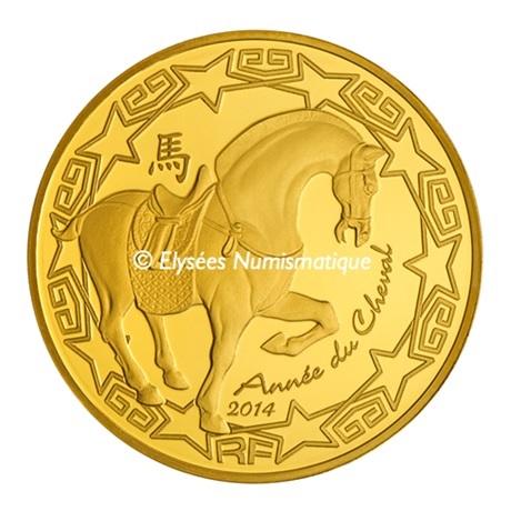 (EUR07.ComBU&BE.2014.10041282380000) 50 euro France 2014 Au BE - Année du Cheval Avers