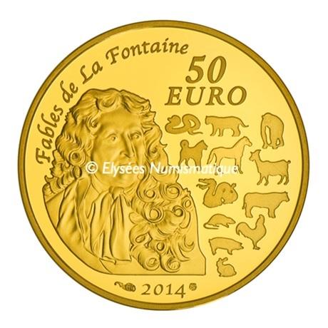 (EUR07.ComBU&BE.2014.10041282380000) 50 euro France 2014 Au BE - Année du Cheval Revers