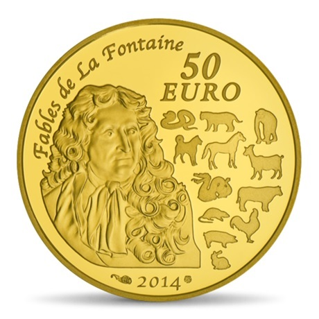 (EUR07.ComBU&BE.2014.10041282380000) 50 euro France 2014 or BE - Année du Cheval Revers