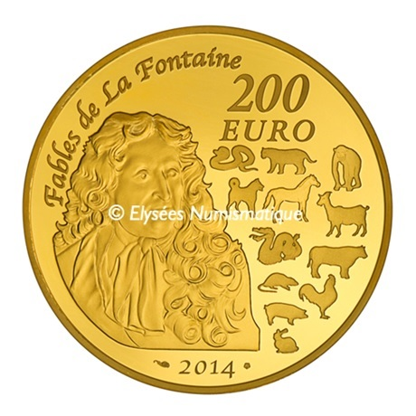 (EUR07.ComBU&BE.2014.10041285790000) 200 euro France 2014 Au BE - Année du Cheval Revers