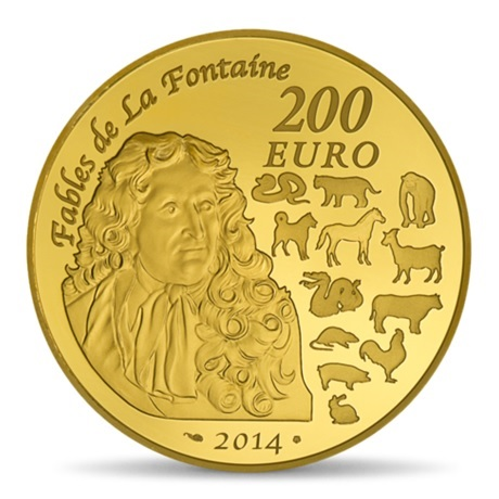 (EUR07.ComBU&BE.2014.10041285790000) 200 euro France 2014 or BE - Année du Cheval Revers
