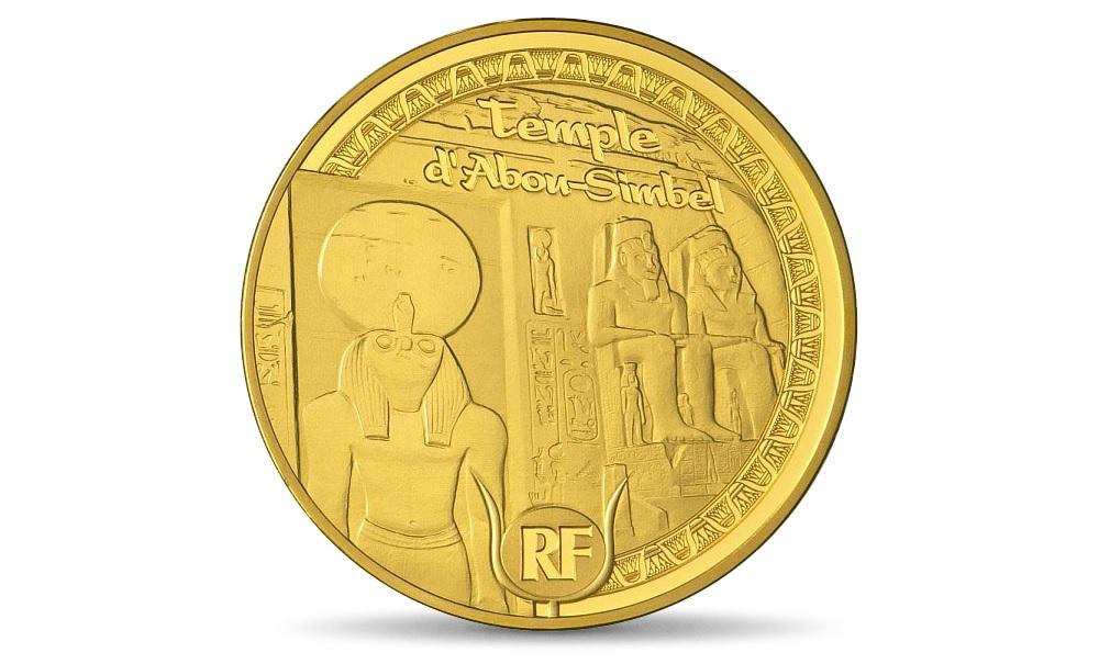 (EUR07.Proof.2012.10041275350000) 5 euro France 2012 Proof gold - Abu Simbel Obverse (zoom)