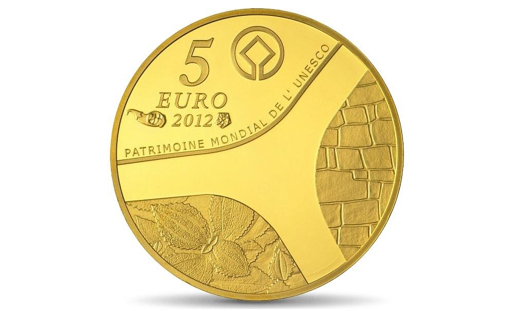(EUR07.Proof.2012.10041275350000) 5 euro France 2012 Proof gold - Abu Simbel Reverse (zoom)