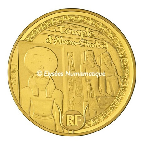 (EUR07.Proof.2012.10041275350000) 5 euro France 2012 or BE - Patrimoine egyptien Avers