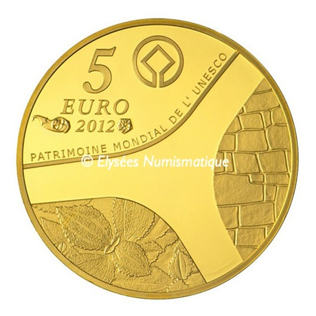 (EUR07.Proof.2012.10041275350000) 5 euro France 2012 or BE - Patrimoine egyptien Revers