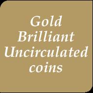 Monnaies en or BU