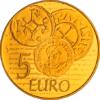 5 euro France 2014 or BE - Semeuse Revers