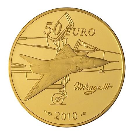 (EUR07.ComBU&BE.2010.10041263630000) 50 euro France 2010 or Au - Marcel Dassault Revers