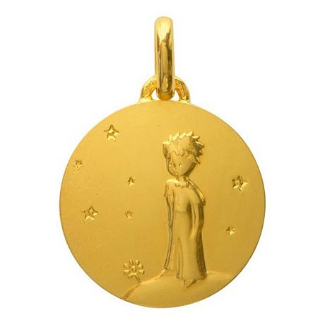 (FMED.Méd.couMdP.Au12) Médaille de cou or - Le Petit Prince sur sa planète Avers