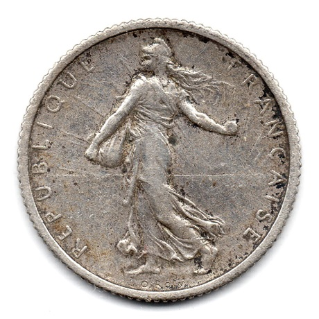 (FMO.1.1917.18.23.000000001) 1 Franc Semeuse 1917 Avers