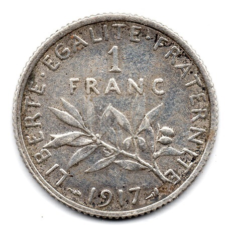 (FMO.1.1917.18.23.000000001) 1 Franc Semeuse 1917 Revers