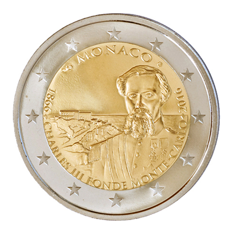 2 euro commémorative Monaco 2016 BE - Charles III Avers