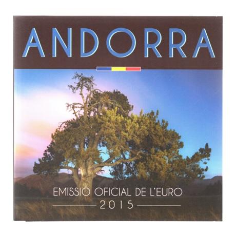 (EUR24.CofBU&FDC.2015.Cof-BU.28071) Coffret BU Andorre 2015 Recto