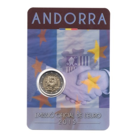 (EUR24.ComBU&BE.2015.200.BU.COM1.cp5.82887) 2 euro Andorre 2015 BU - Accord douanier avec l'UE Recto