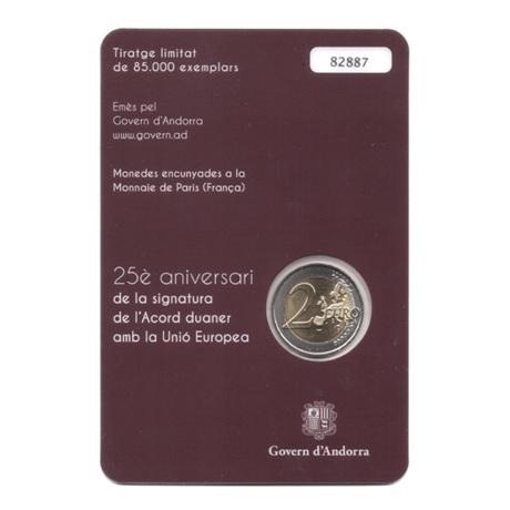 (EUR24.ComBU&BE.2015.200.BU.COM1.cp5.82887) 2 euro Andorre 2015 BU - Accord douanier avec l'UE Verso