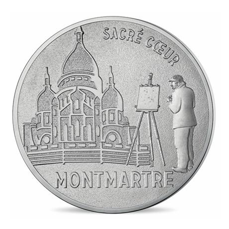 (FMED.Méd.tourist.n.d._2016_.CuNi16) Jeton touristique - Sacré-Coeur de Montmartre Avers