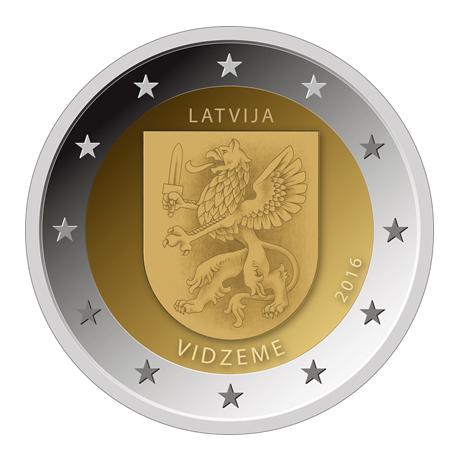2-euro-commemorative-lettonie-2016-vidzeme
