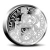 Piedfort 1 Daldre au lion Pays-Bas 2017 2 onces argent BE Revers