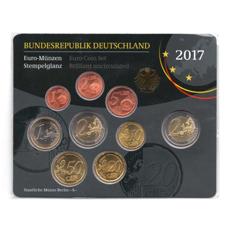 (EUR03.CofBU&FDC.2017.Cof-BU.A.000000002) Coffret BU Allemagne 2017 A Verso