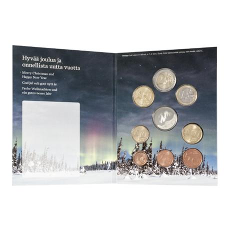 (EUR06.CofBU&FDC.2017.Cof-BU.7) Brilliant Uncirculated coin set Finland 2017 - Christmas (inside)