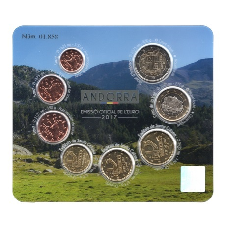 (EUR24.CofBU&FDC.2017.Cof-BU.01858) Coffret BU Andorre 2017 Avers