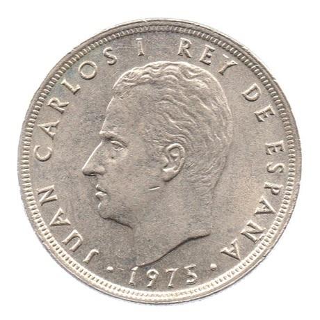 (W064.005.1975.1.3.sup.000000001) 5 Pesetas Juan Carlos Ier 1975 (79 dans l'étoile) Avers