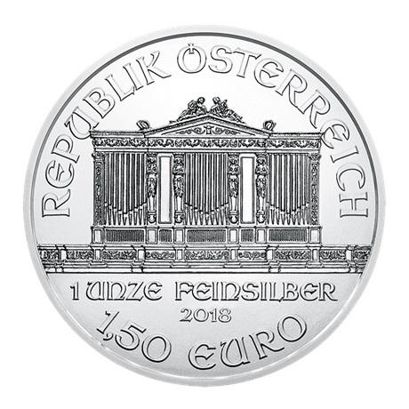 1,50 euro Autriche 2018 1 once argent - Philharmonique Avers