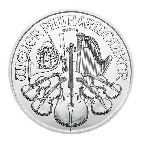 1,50 euro Autriche 2018 1 once argent - Philharmonique Revers