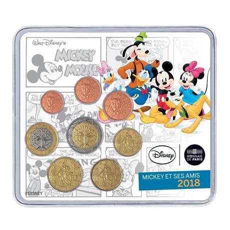 (EUR07.CofBU&FDC.2018.10041318280000) Mini-set BU France 2018 - Mickey Mouse Recto