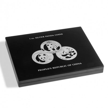 (MAT01.Cofméd&écr.Cof.344580) Coffret Leuchtturm - 10 Yuan Chine 1 once argent - Panda (fermé)