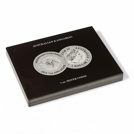 (MAT01.Cofméd&écr.Cof.355190) Coffret Leuchtturm - 1 Dollar Australie 1 once argent - Kangourou (fermé)