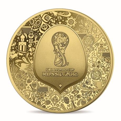 5 euro France 2018 or BE - Coupe du monde de football Avers