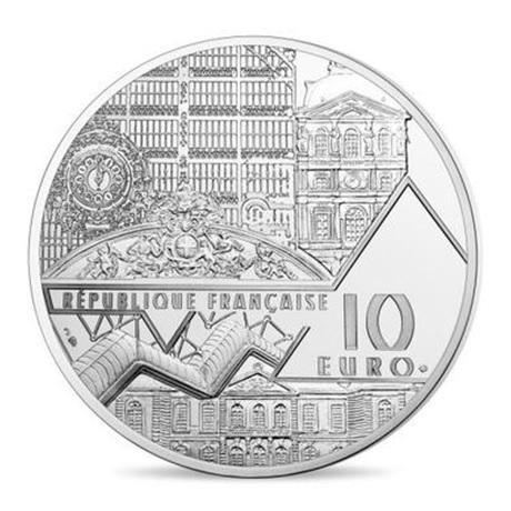 (EUR07.ComBU&BE.2018.10041317860000) 10 euro France 2018 argent BE - Bal du moulin de la Galette Avers