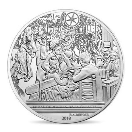 (EUR07.ComBU&BE.2018.10041317860000) 10 euro France 2018 argent BE - Bal du moulin de la Galette Revers