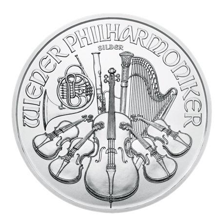 (EUR01.150.2017.21598) 1,50 euro Autriche 2017 1 once argent - Philharmonique Revers