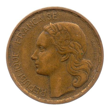 (FMO.20.1952.3.7.ttb.000000001) 20 Francs G. Guiraud 1952 Avers