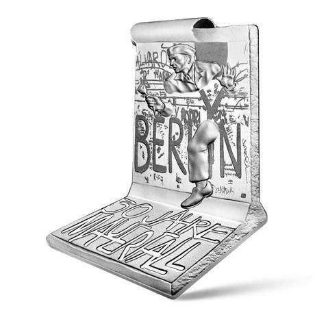 (EUR07.ComBU&BE.2019.1000.BE.10041329740000) 10 euro France 2019 argent BE - Mur de Berlin Avers