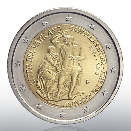 2 euro commémorative Vatican 2019 BU - Chapelle Sixtine Avers