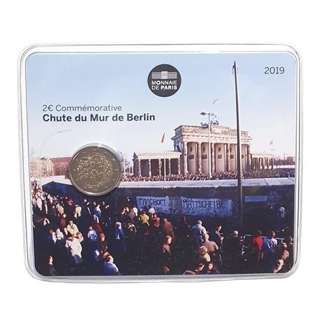 (EUR07.ComBU&BE.2019.200.BU.10041330020000.000000001) 2 euro France 2019 BU - Mur de Berlin Recto