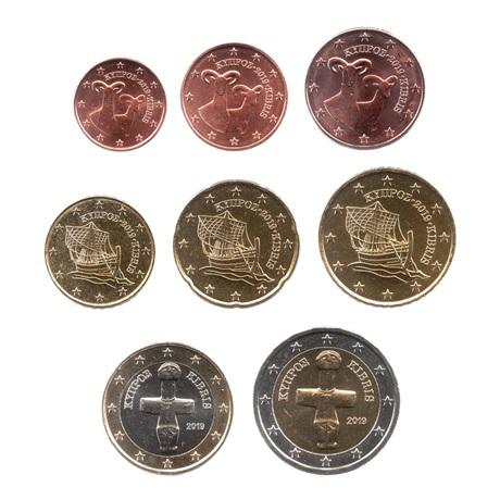 (LOT.EUR04.001to200.2019.1.spl.000000002) Série 1 cent à 2 euro Chypre 2019 Avers