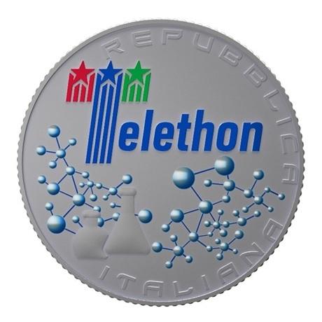 (EUR10.ComBU&BE.2020.500.BU.COM1) 5 euro Italie 2020 argent BU - Téléthon Avers