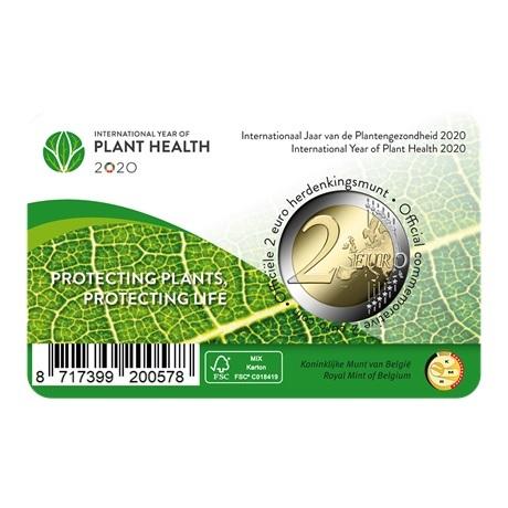 (EUR02.ComBU&BE.2020.200.BU.COM1) 2 euro Belgique 2020 BU - Santé des plantes (légende française) Verso