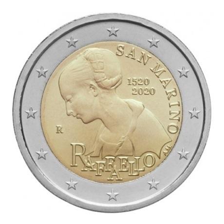 (EUR18.ComBU&BE.2020.200.BU.COM1) 2 euro commémorative Saint-Marin 2020 BU - Raphaël